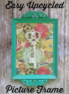Easy Upcycled Picture Frame 2