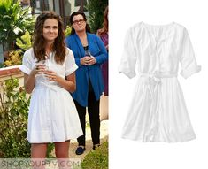 The Fosters: Season 2 Episode 10 Callie's White Shirtdress - ShopYourTv