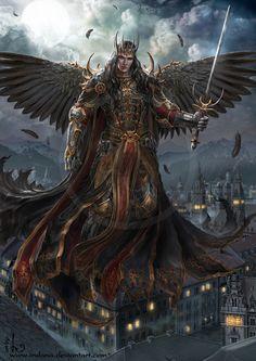 All information about Fantasy Art Dark Angels. Pictures of Fantasy Art Dark Angels and many more. Fantasy Male, Fantasy Warrior, Dark Fantasy Art, Fantasy Artwork, Male Angels, Angels And Demons, Angel Artwork, Angel Warrior, Elf Warrior
