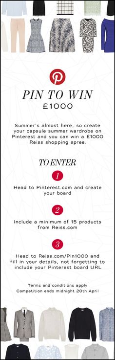 PIN TO WIN a Reiss summer shopping spree. Click to find out more details.