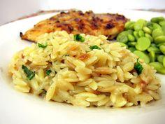 Parmesan Basil Orzo   Plain Chicken