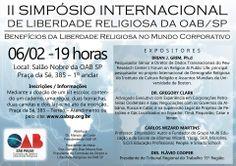 Postagem para página da OAB - Comissão de Direito e Liberdade Religiosa