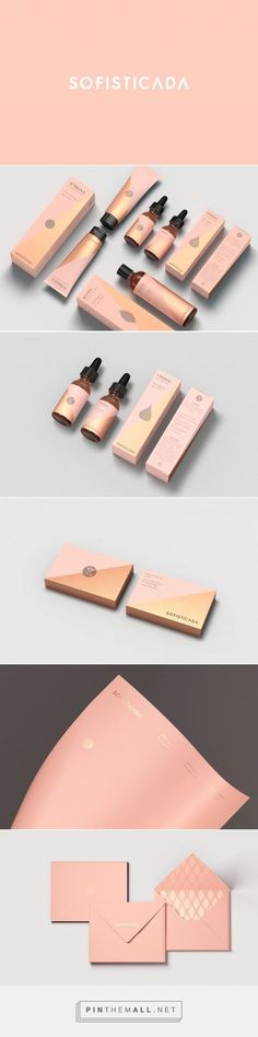 """Branding, packaging and print design for Sofisticada Behance by Robinsson Cravents Medellín, Colombia curated by Packaging Diva PD.  A skin care brand """"Locking the skin time""""."""
