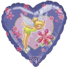 Tinkerbell Purple Heart 18""