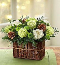 Shop Christmas flowers & gifts for delivery to celebrate the season! Find beautiful Christmas floral arrangements and holiday flowers. Winter Flower Arrangements, Christmas Arrangements, Christmas Centerpieces, Floral Arrangements, Christmas Decorations, Christmas Flowers, Winter Flowers, Faux Flowers, 800 Flowers