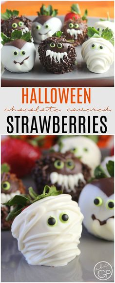 These little monsters are #SquadGoals for Halloween. Make easy chocolate-covered strawberries in minutes, with almost zero artificial dyes! via @abcgp