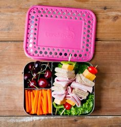 LunchBots Trio Bento Box Stainless Steel Food and Lunch Container