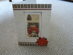 christmas teddy bear card by HABERDASHERYHAVEN on Etsy