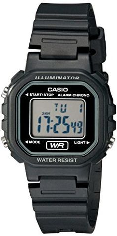 Casio Womens LA20WH1ACF Classic Digital Black Resin Watch ** Read more reviews of the product by visiting the link on the image.