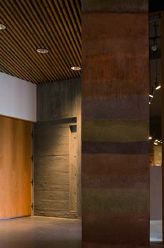 Rammed Earth Interior Walls