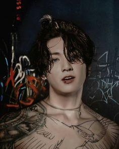 Jungkook Abs, Foto Jungkook, Jungkook Fanart, Jungkook Cute, Kpop Fanart, Bts Taehyung, Jung Kook, Estilo Bad Boy, Bts Tattoos