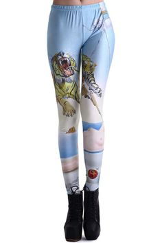 ROMWE | Tigers in The Singular Coast Print Leggings, The Latest Street Fashion - LOVE tiger leggings! I want them ALL.