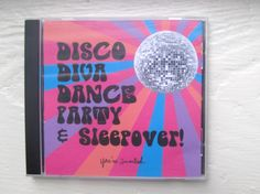 Disco diva dance party invites