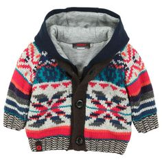 Catimini - Multicoloured knit cardigan with a jersey lining - 42701 Baby Boy Fashion, Kids Fashion, Baby Boy Outfits, Kids Outfits, Sweater Cardigan, Men Sweater, Xmas Jumpers, Toddler Sweater, Kids Boys