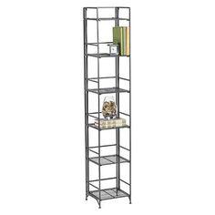 6-Shelf Iron Folding Tower