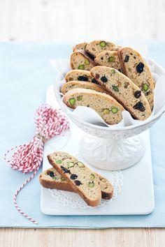 La ciliegina sulla torta: Cantuccini con pistacchi e amarene