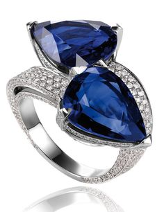 Chopard ~ You and Me Ring, Sapphires+Diamonds
