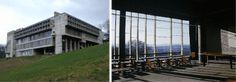 À gauche : Le Corbusier, Couvent Sainte-Marie de la Tourette, Rhône, 1957 © ADAGP, Paris 2017 / photo : Pedro Varela À droite : Le Corbusier, Couvent Sainte-Marie de la Tourette, Rhône, (intérieur) 1957 © ADAGP, Paris 2017 / photo : Timothy Brown