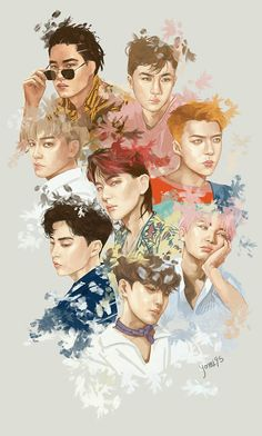 The artist of this fanart is too lit #exo