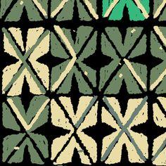 Tapa Flowers 1e fabric by muhlenkott on Spoonflower - custom fabric