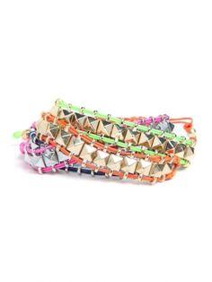rainbow stud wrap bracelets by carlene