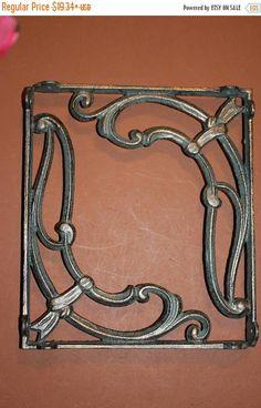 12% OFF Solid cast iron SHELF BRACKETS,antique bronzed looK.home decor show stoppers,open shelf concept,elegent decorB-48 by DecoratorsChoice on Etsy