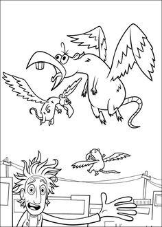 Dibujos para Colorear. Dibujos para Pintar. Dibujos para imprimir y colorear online. Lluvia de Albondigas 14