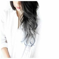 Beautiful Dipdye ❤ Achieve this look by using our Black to Silver Dipdye Extensions #T1B/SG | Free delivery around the world. #ombrehair #dipdyehair
