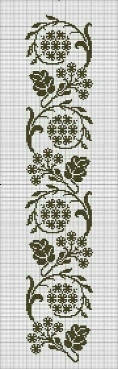 This Pin was discovered by Lil Cross Stitch Bookmarks, Crochet Bookmarks, Cross Stitch Borders, Cross Stitch Flowers, Cross Stitch Designs, Cross Stitching, Cross Stitch Embroidery, Embroidery Patterns, Hand Embroidery