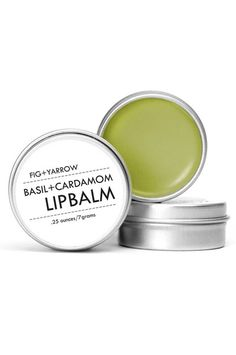 Basil + Cardamom Lip Balm