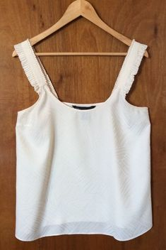 MARC JACOBS Blouse Size 10 Ivory Silk Women Top Sleeveless