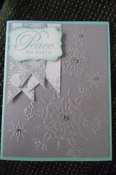 Northern Flurry Folder Decorative Label punch Greetings of the Season set Winter Frost DSP Pack Rhinestones