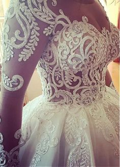 3c3477a16dc5  326.50  Elegant Tulle Jewel Neckline Ball Gown Wedding Dresses With Beaded  Lace Appliques