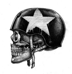 skull / star / casque
