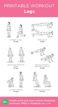 Legs my visual workout created at WorkoutLabs com Leg Day Workouts, 30 Minute Workout, At Home Workouts, Gym Workout Chart, Butt Workout, Fitness Workout For Women, Fitness Tips, Muscle Food, Gym