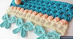 Crochet Edgings 22487 10 Amazing Free Crochet Edging patterns you will love! Crochet Bows, Crochet Trim, Love Crochet, Crochet Motif, Diy Crochet, Crochet Crafts, Crochet Projects, Crochet Shawl, Crochet Flowers