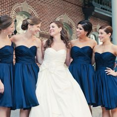 Love the bridesmaid dresses, including the color!
