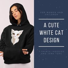 Do you like cats or other animals? Then don't hesitate and buy T-shirts, hoodies and tank tops for children and women and show your love for animals!  #clothes #cat Cat Design, Animal Design, Animal Kingdom, Hoodies, Tank Tops, Children, Cats, Shirts, Animals