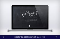 Free Downloadable March 2013 Desktop Calendar Wallpaper by Design is Yay!