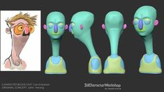 This is the character block-out student gallery for Character Workshop Character Modeling, 3d Character, Character Concept, Concept Art, Character Design, 3d Modeling, Zbrush Tutorial, 3d Tutorial, Character Turnaround