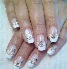 French nails Bilder, die Ihnen bei der Auswahl vom Nageldesign helfen