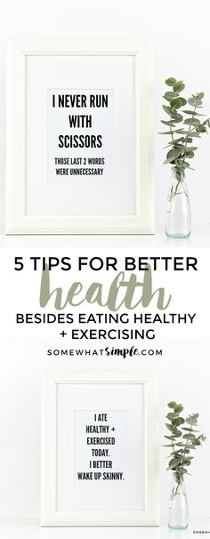 If you've made a goal to eat better, exercise or become healthier - that's great! But here are 5 health tips you wouldn't expect that will change your life! Wellness Tips, Health And Wellness, Health Fitness, Healthy Exercise, Get Healthy, Running Workouts, At Home Workouts, Hall Wall Decor, Diy Spring