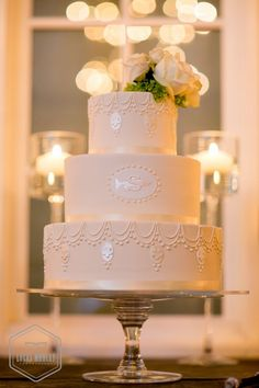 photo: Lucas Mobley Photography; Simple Wedding Cakes with Beautiful Details