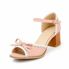 For Amy?? Vogue009 Womens Open Peep Toe Kitten Heel Chunky Heels PU Soft Material Solid Sandals with Bowknot and Lace, Pink, 42 Vogue009 http://www.amazon.com/dp/B00LGGUJ80/ref=cm_sw_r_pi_dp_ofRVtb046E8REMAX