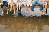 on the dock, it would be cool to do this with a group of friends