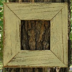 Wooden rustic painted picture frame
