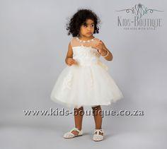 Beige Soft Tulle With Flower Neckline Flower Girls, Flower Girl Dresses, Kids Boutique, Tulle, Girls Dresses, Neckline, Beige, Wedding Dresses, Flowers