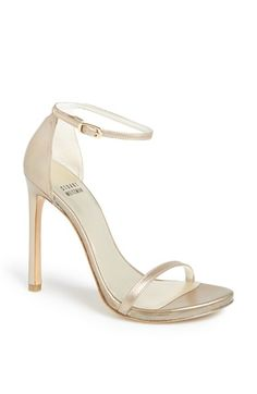 Free shipping and returns on Stuart Weitzman 'Nudist' Sandal (Women) at Nordstrom.com. Subtle texture lends depth and luster to a minimalist sandal topped by a slender, delicate ankle strap. Stuart Weitzman shoes are favorites among editors, stylists and celebrities – and it's no wonder. Each Stuart Weitzman shoe is crafted in Spain with a keen attention to detail and made to feel as great as it looks.