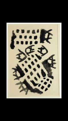 "Giuseppe Capogrossi - "" Superficie CP/62 "", 1964/1965 - Tempera on paper - 35 x 50,5 cm"