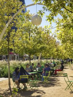 """Read """"What We Still Don't Know about the Health Benefits of Nature"""" in The Dirt, a blog of the American Society of Landscape Architects. Photo: ASLA 2017 Professional General Design Award of Excellence. Klyde Warren Park, Dallas, OJB Landscape Architecture / Gary Zonkovic Photography"""